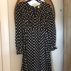 Kate Spade Navy and White Polka Dot Dress